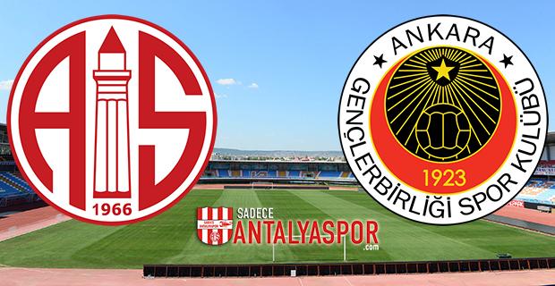 Antalyaspor – Gençlerbirliği (Kadrolar)