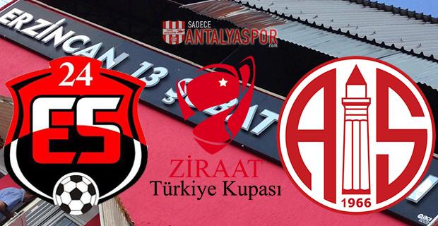 24Erzincanspor – Antalyaspor (Kadrolar)