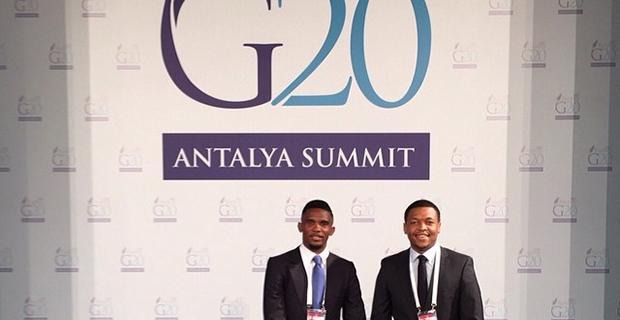 Samuel Eto'o G20 Zirvesine Katıldı