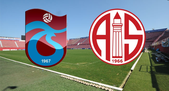 Trabzonspor – Antalyaspor (Kadrolar)