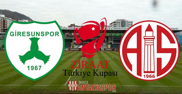 Giresunspor – Antalyaspor (Kadrolar)