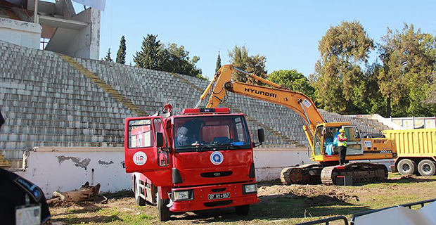 Atatürk Stadyumu'nda Yıkım Başladı