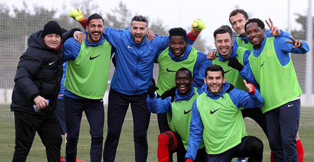 Antalyaspor'da Neşeli İdman