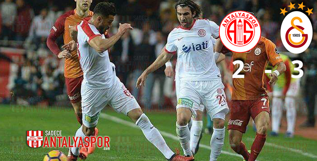 Antalyaspor 2 – 3 Galatasaray