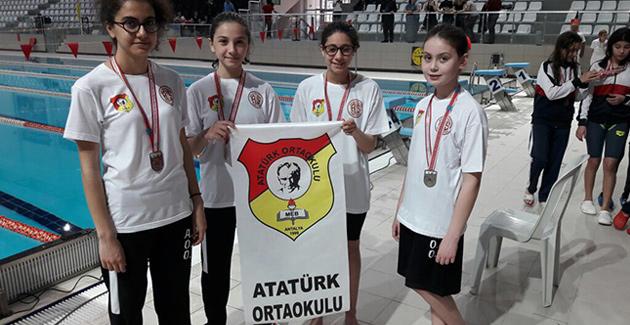 Atatürk Ortaokulu Dereceyle Tamamladı