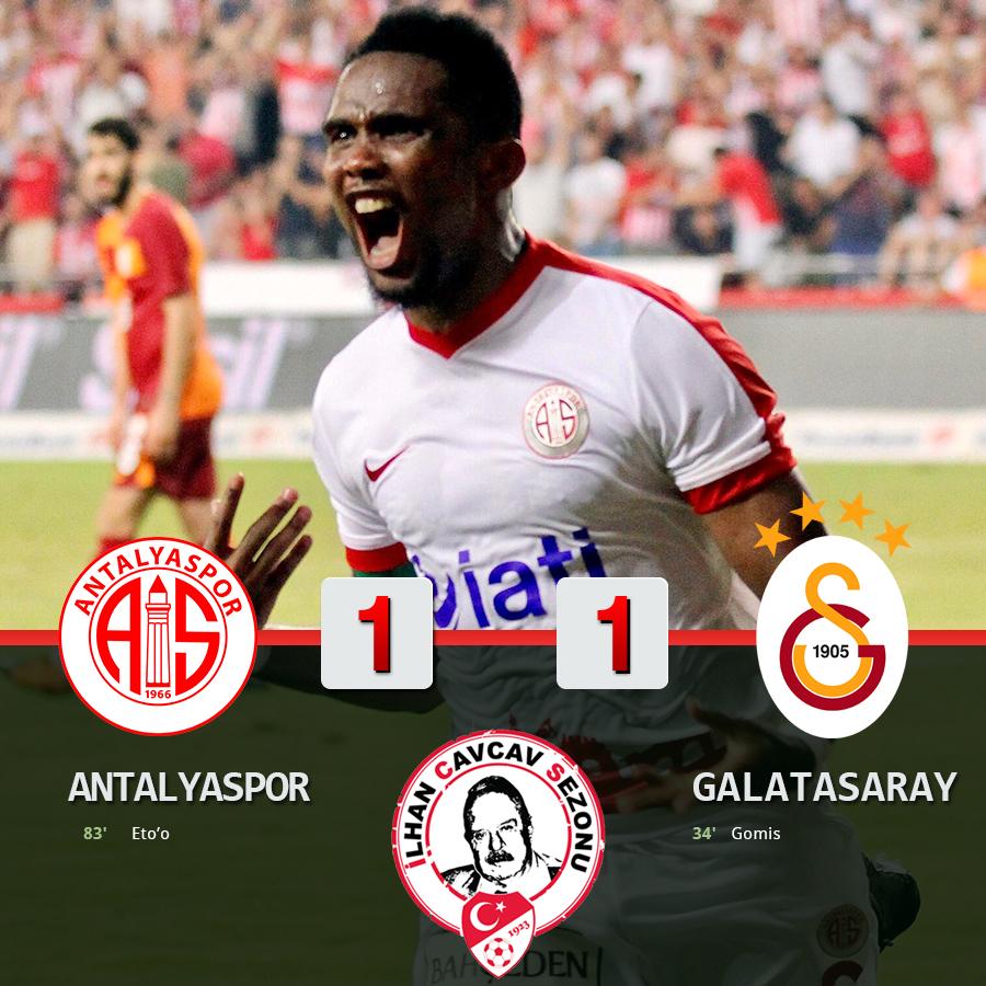 Antalyaspor Boyun Eğmedi: 1-1