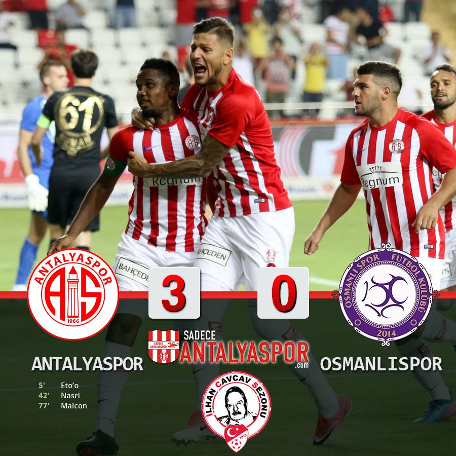 Antalyaspor 3 – 0 Osmanlıspor