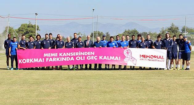 Antalyaspor Meme Kanserine Dikkat Çekti
