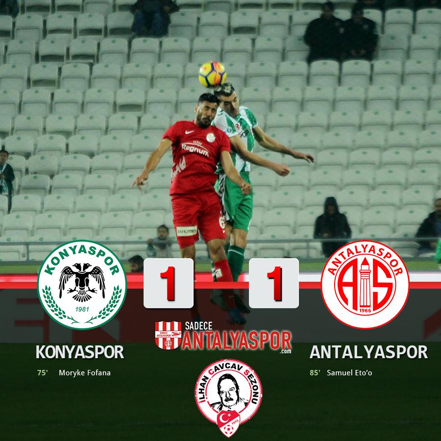 A. Konyaspor 1 – 1 Antalyaspor