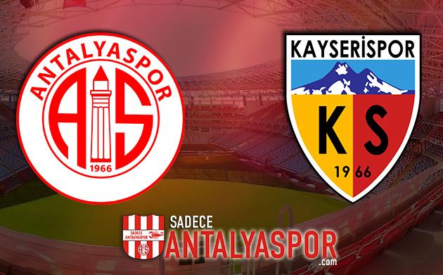 Antalyaspor- Kayserispor (KADROLAR)