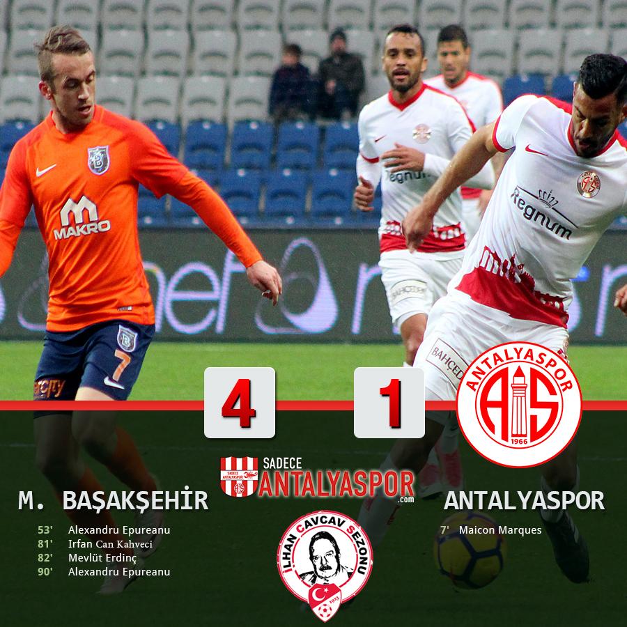 Medipol Başakşehir 4 – 1 Antalyaspor