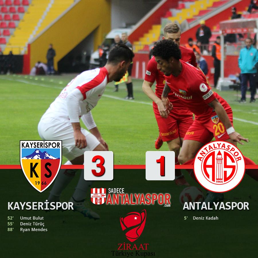 Kayserispor 3 – 1 Antalyaspor