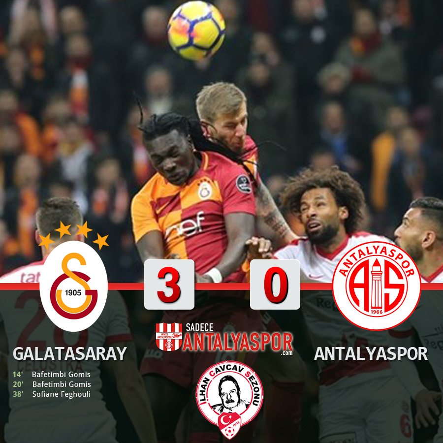 Galatasaray 3- 0 Antalyaspor