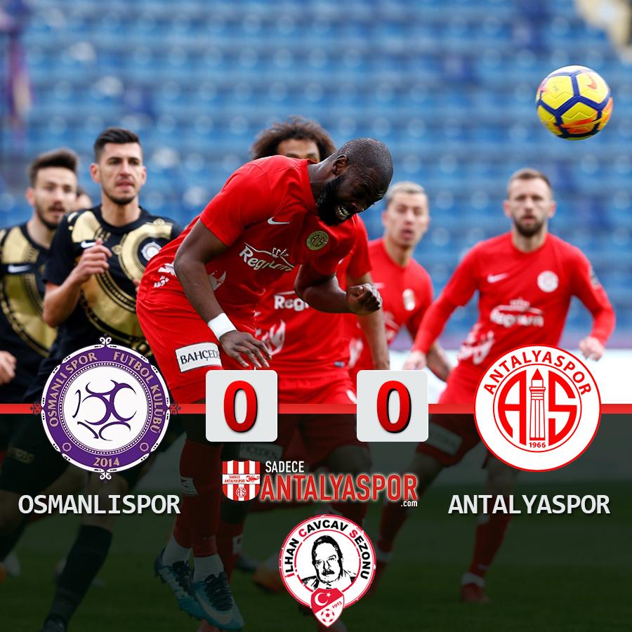 Osmanlıspor 0 – 0 Antalyaspor