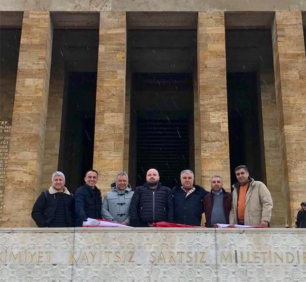 Yöneticilerden Anıtkabir Ziyareti