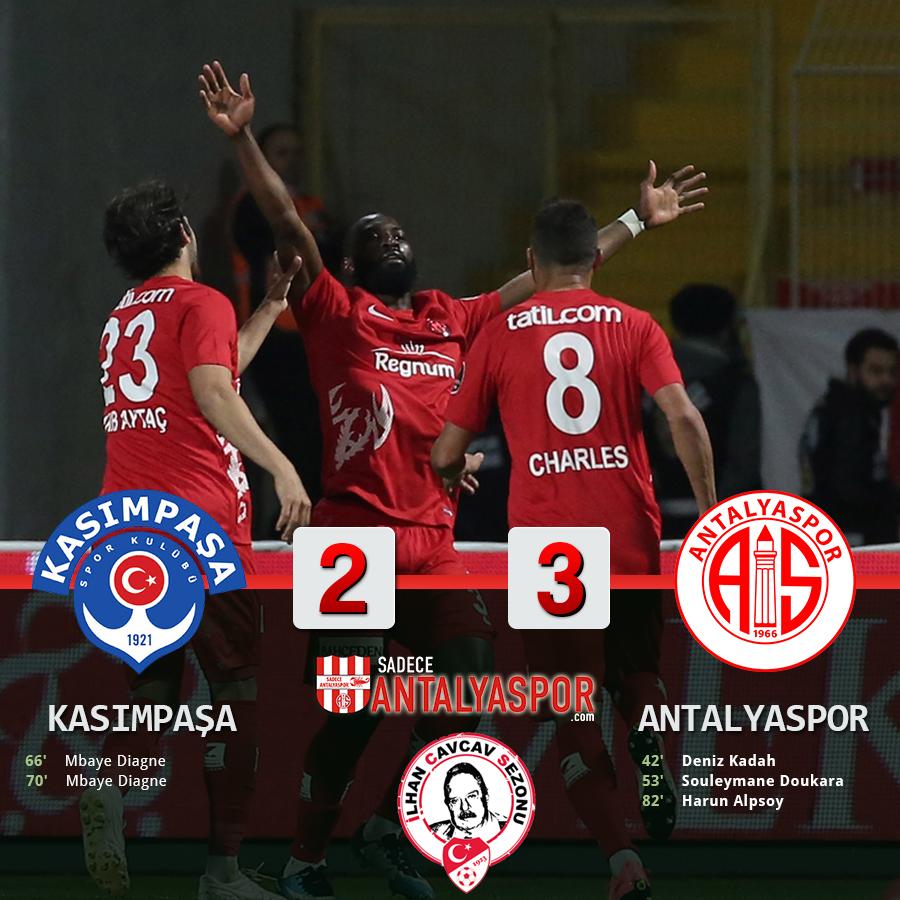 Kasımpaşa 2 – 3 Antalyaspor