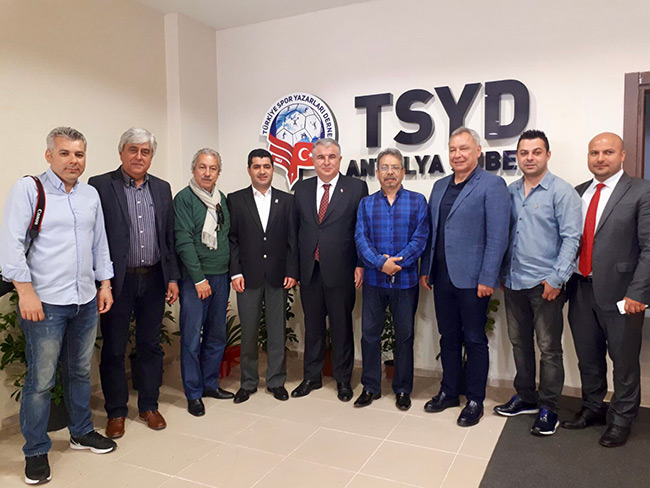 Antalyaspor Yönetiminden TSYD Antalya'ya Ziyaret