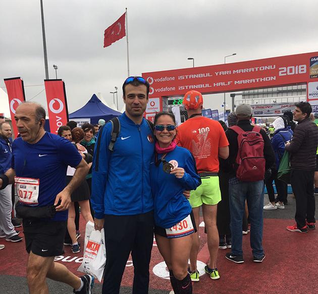 Triatlon Takımı, Vodafone İstanbul Yarı Maratonu'nda Yarıştı