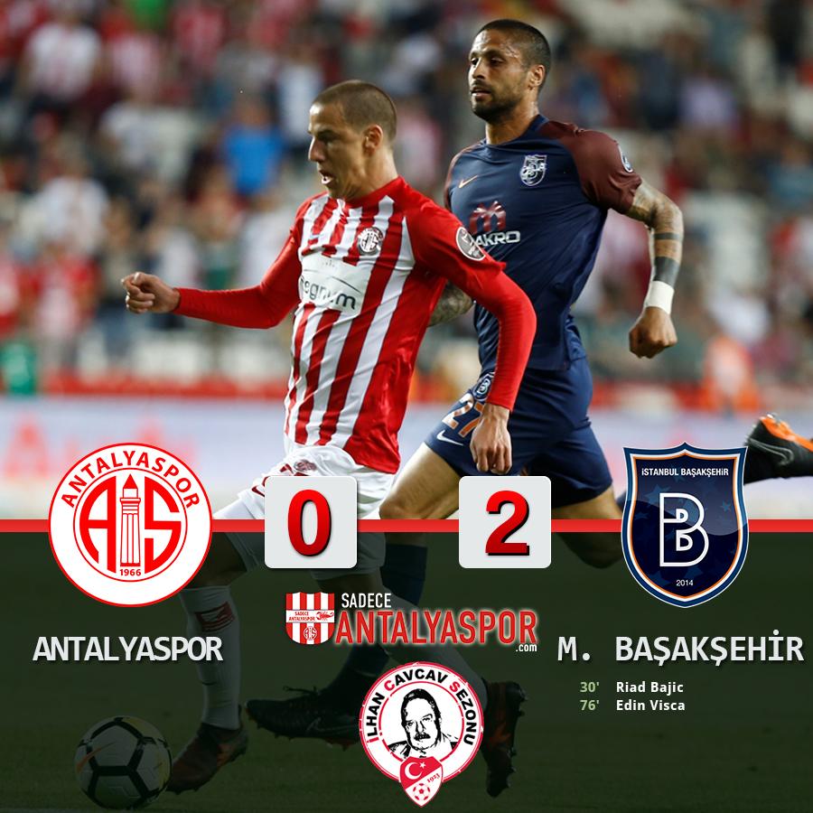 Antalyaspor 0 – 2 Medipol Başakşehir