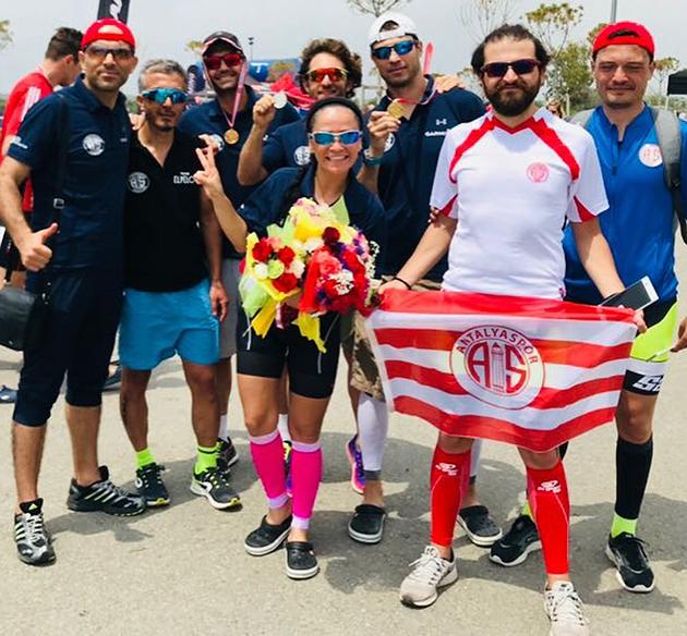 Antalyaspor'dan Antalya Triatlonu'ndan Derece