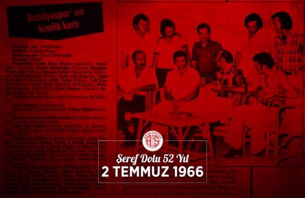 Antalyaspor Kulübünden 52. Yıl Mesajı