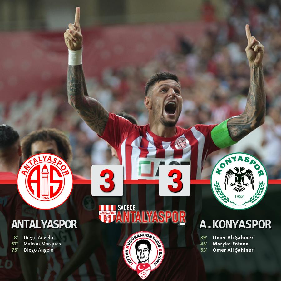 Antalyaspor 3 – 3 Atiker Konyaspor