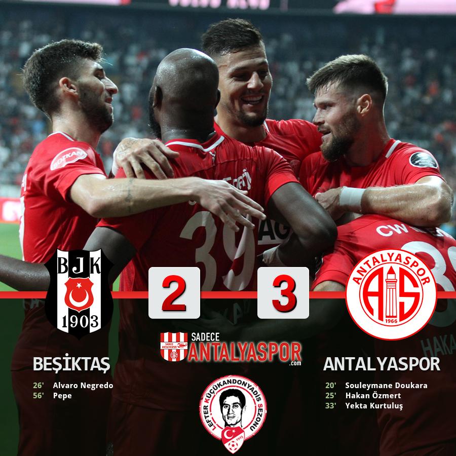 Beşiktaş 2 – 3 Antalyaspor