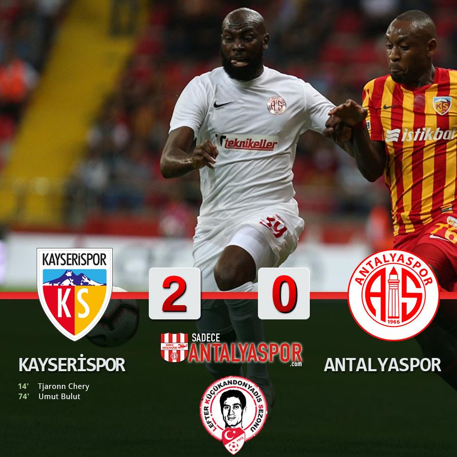 Kayserispor 2 – 0 Antalyaspor