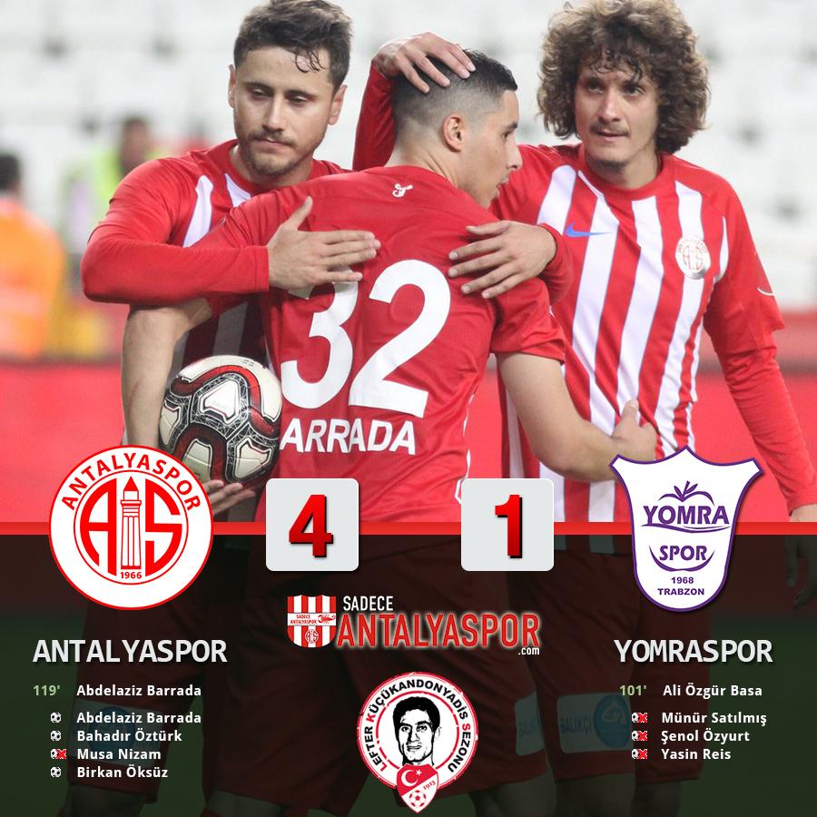 Antalyaspor 4 – 1 Yomraspor