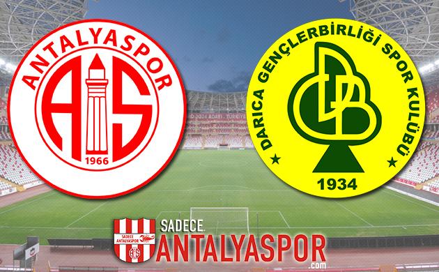 Antalyaspor – Darıca Gençlerbirliği (MAÇ KADROSU)