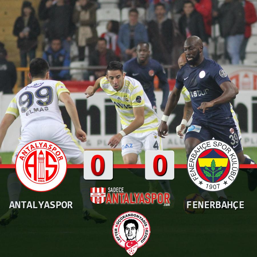 Antalyaspor 0 – 0 Fenerbahçe
