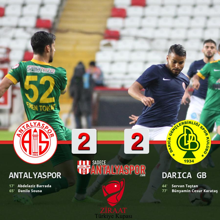 Antalyaspor 2 – 2 Darıca Gençlerbirliği