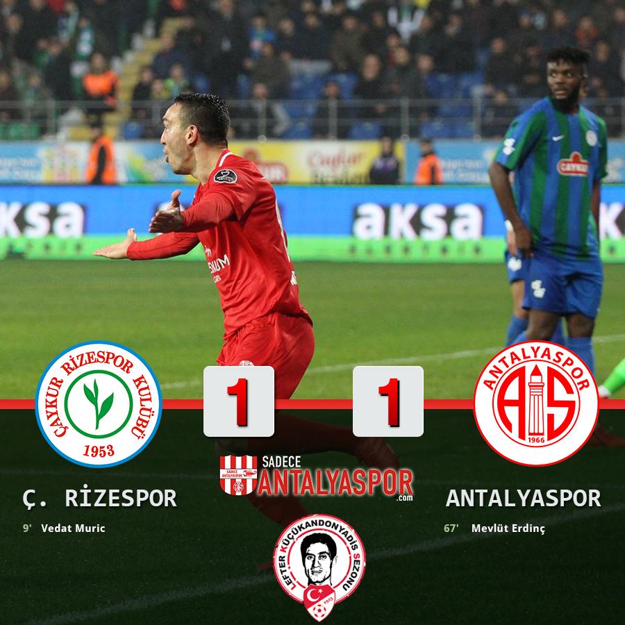 Çaykur Rizespor 1 – 1 Antalyaspor