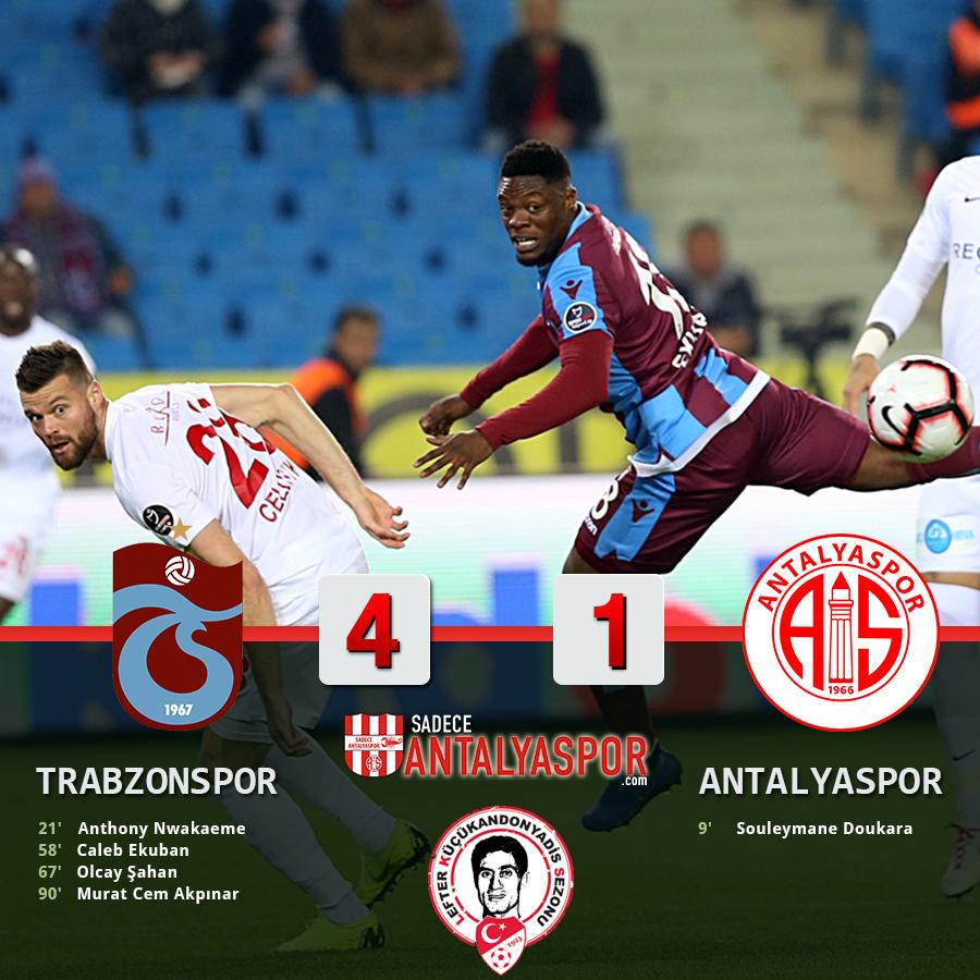 Trabzonspor 4 – 1 Antalyaspor